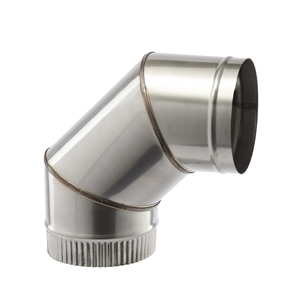 """90 DEG ELBOW 5"""" (127MM)  SINGLE WALL STAINLESS STEEL  FLUE SW304 GRADE FOR GAS AND OIL"""