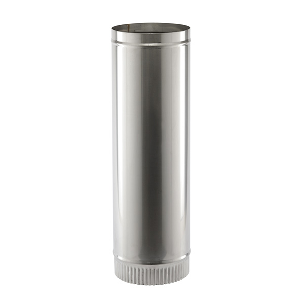 """1 MTR 10""""   (254mm)  LENGTH STAINLESS STEEL SINGLE WALL  FLUE SW304 FOR GAS AND OIL"""