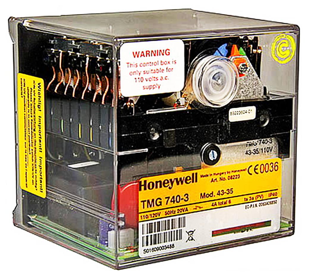 HONEYWELL/SATRONIC CONTROL BOX TMG 740 MOD 43-35 / 110V 08223U