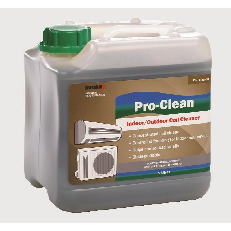 PRO-CLEAN UNIVERSAL INDOOR AND OUTDOOR COIL CLEANER. 5 LTR