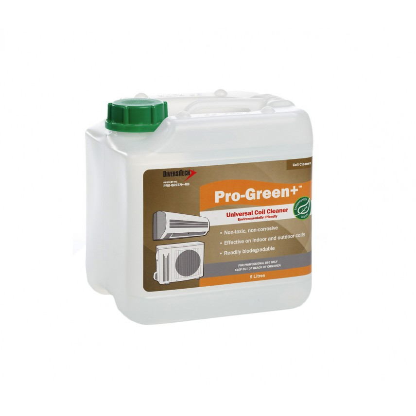 PRO-GREEN+ ENVIRONMENTALLY FRIENDLY INDOOR & OUTDOOR COIL CLEANER. 5 LT