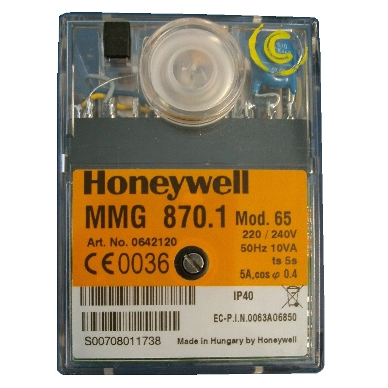 HONEYWELL /SATRONIC CONTROL BOX MMG 870 MOD 65/240V 0642120U